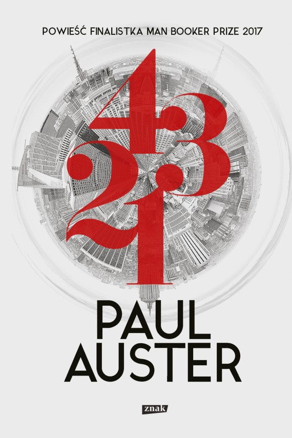 okładka 4 3 2 1. Ebook | EPUB, MOBI | Paul Auster