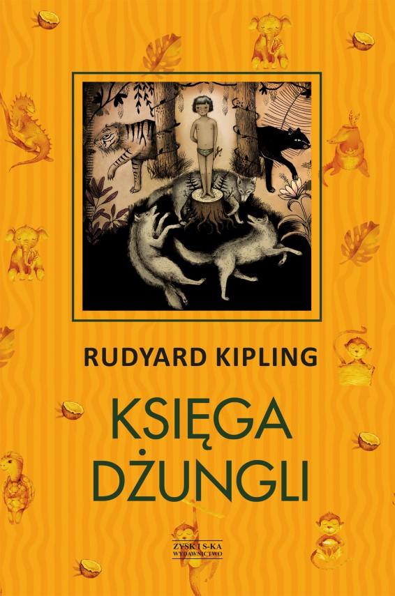 okładka Księga Dżungliebook | EPUB, MOBI | Rudyard Kipling, Józef Birkenmajer