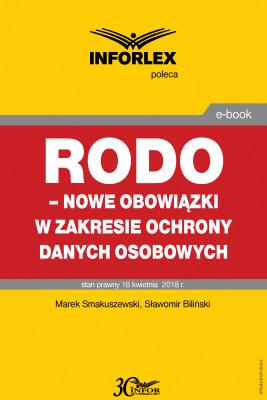 okładka RODO – nowe obowiązki w zakresie ochrony danych osobowych, Ebook | Sławomir Biliński, Marek Smakuszewski