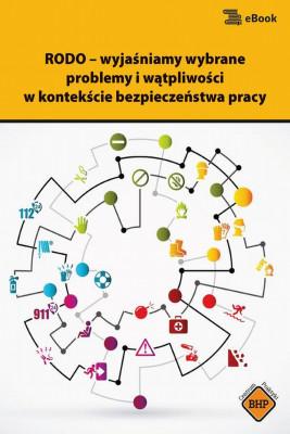 okładka RODO – wyjaśniamy wybrane problemy i wątpliwości w kontekście bezpieczeństwa pracy, Ebook | Sebastian Kryczka