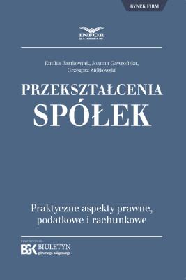 okładka Przekształcenia spółek., Ebook | Joanna Gawrońska, Emilia Bartkowiak