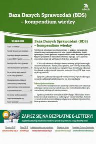 okładka Baza Danych Sprawozdań (BDS) – kompendium wiedzy. Ebook | Natalia  Springer