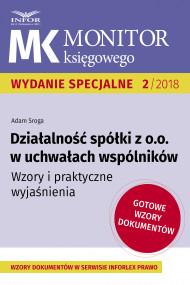 okładka Działalność spółki z o.o. w uchwałach wspólników, Ebook | Adam Sroga