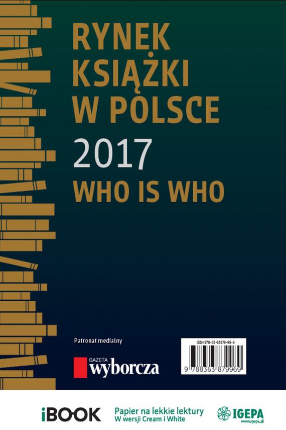 okładka Rynek książki w Polsce 2017. Who is whoebook | PDF | Piotr Dobrołęcki, Ewa Tenderenda-Ożóg