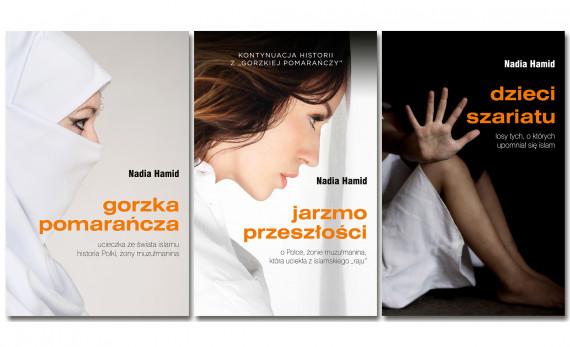 okładka Pakiet ebooków autorstwa Nadii Hamid: Gorzka pomarańcza, Jarzmo przeszłości, Dzieci szariatu. Ebook   EPUB, MOBI   Nadia Hamid