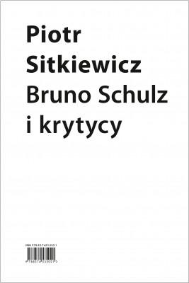 okładka Bruno Schulz i krytycy, Ebook | Sitkiewicz Piotr