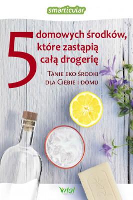 okładka 5 domowych środków, które zastąpią drogerię, Ebook | Smarticular.net .