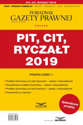 okładka PIT, CIT, Ryczałt 2019  Podatki cz.1, Ebook | praca  zbiorowa