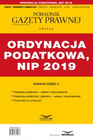 okładka Ordynacja podatkowa, NIP 2019 Podatki cz.3, Ebook | praca  zbiorowa