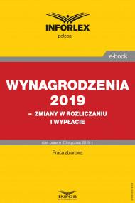 okładka Wynagrodzenia 2019 – zmiany w rozliczaniu i wypłacie, Ebook | praca  zbiorowa