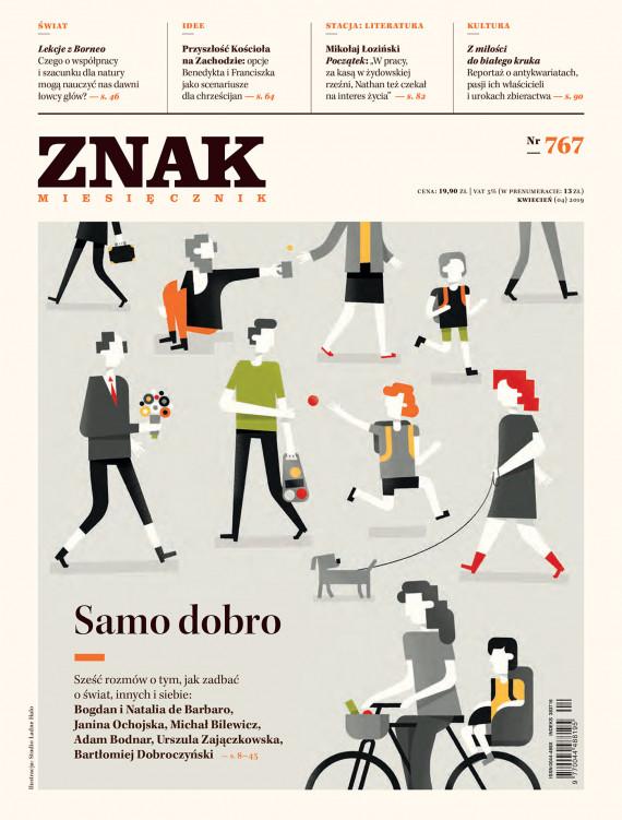"""okładka Miesięcznik """"Znak"""" nr 767ebook   EPUB, MOBI   autor  zbiorowy"""