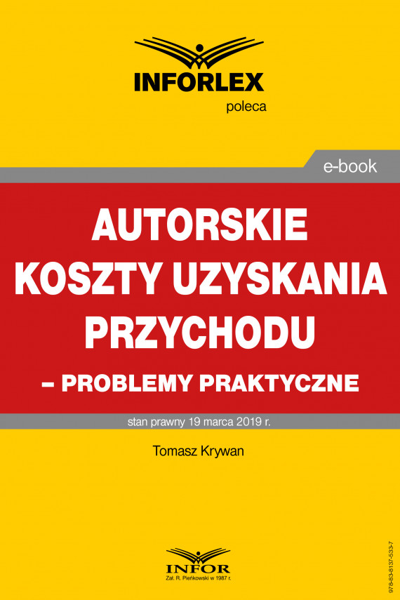 okładka Autorskie koszty uzyskania przychodu – problemy praktyczneebook | PDF | Tomasz Krywan