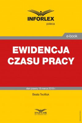 okładka Ewidencja czasu pracy, Ebook | Beata Tofiluk