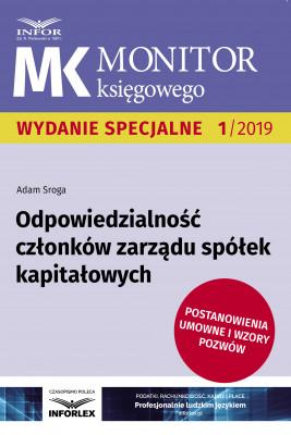 okładka Odpowiedzialność członków zarządu spółek kapitałowych, Ebook | Adam Sroga