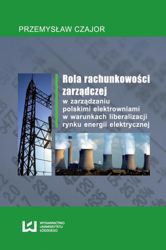 okładka Rola rachunkowości zarządczej w zarządzaniu polskimi elektrowniami w warunkach liberalizacji rynku energii elektrycznejebook | PDF | Przemysław  Czajor