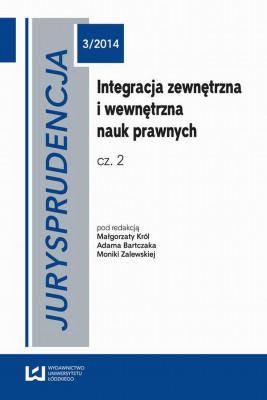 okładka Jurysprudencja 3/2014, Ebook | Małgorzata  Król, Anna Bartczak, Monika  Zalewska