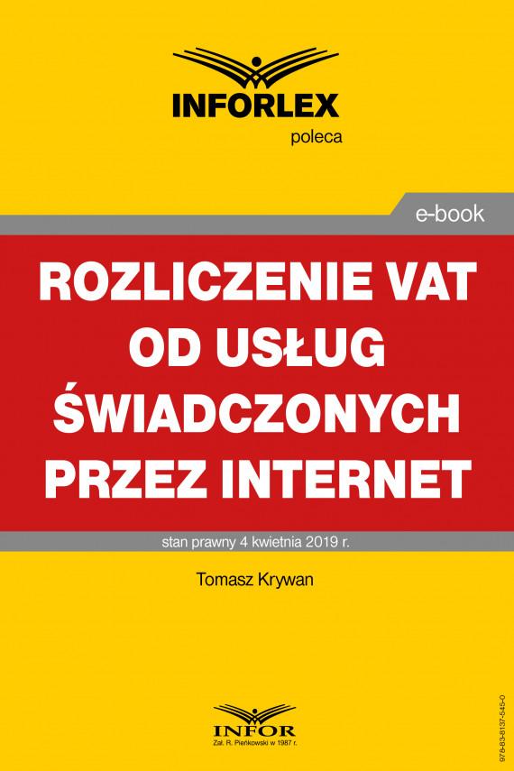 okładka Rozliczanie VAT od usług świadczonych przez Internetebook   PDF   Tomasz Krywan