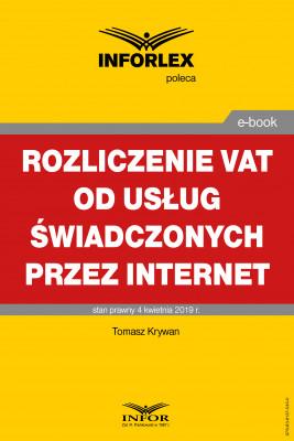 okładka Rozliczanie VAT od usług świadczonych przez Internet, Ebook | Tomasz Krywan