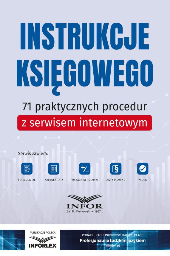 okładka Instrukcje księgowego.71 praktycznych procedur z serwisem internetowymebook | PDF | praca  zbiorowa