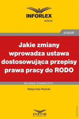 okładka Jakie zmiany wprowadza ustawa dostosowująca przepisy prawa pracy do RODO, Ebook | Małgorzata Mędrala