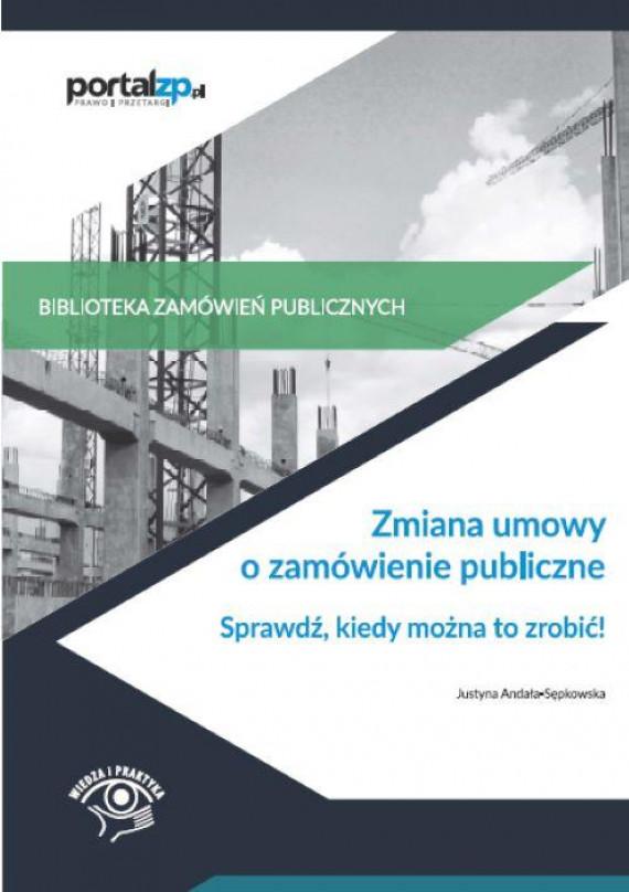 okładka Zmiana umowy o zamówienie publiczneebook | PDF | Justyna  Andała-Sępkowska