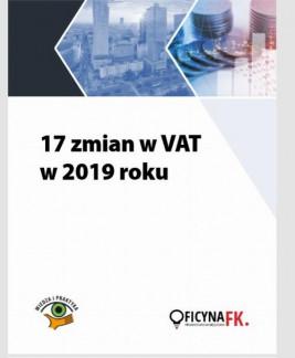 okładka 17 zmian w VAT w 2019 roku, Ebook | zespół autorów