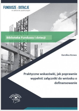 okładka Praktyczne wskazówki, jak poprawnie wypełnić załączniki do wniosku o dofinansowanie, Ebook | Karolina Bzowa