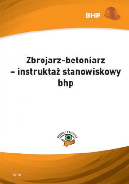 okładka Zbrojarz-betoniarz – instruktaż stanowiskowy bhp, Ebook | Waldemar  Klucha