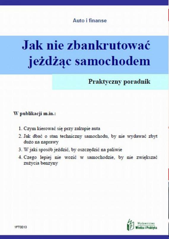 okładka Jak nie zbankrutować jeżdżąc samochodemebook   PDF   Witold Rogowski