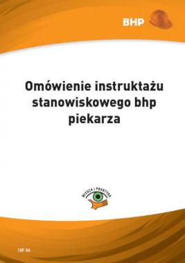 okładka Omówienie instruktażu stanowiskowego bhp piekarza, Ebook | Waldemar  Klucha