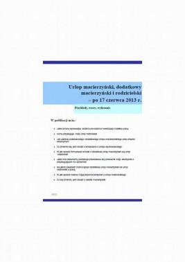 okładka Urlop macierzyński, dodatkowy macierzyński i rodzicielski – po 17 czerwca 2013 r., Ebook | Szymon  Sokolik, Grażyna Mazur