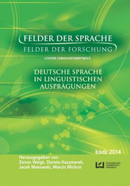okładka Felder der Sprache - Felder der Forschung, Ebook | Zenon Weigt, Dorota Kaczmarek, Jacek Makowski, Marcin Michoń