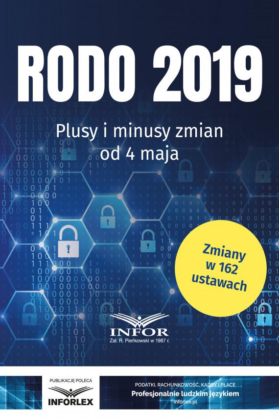 okładka RODO 2019.Plusy i minusy zmian od 4 majaebook   PDF   praca  zbiorowa