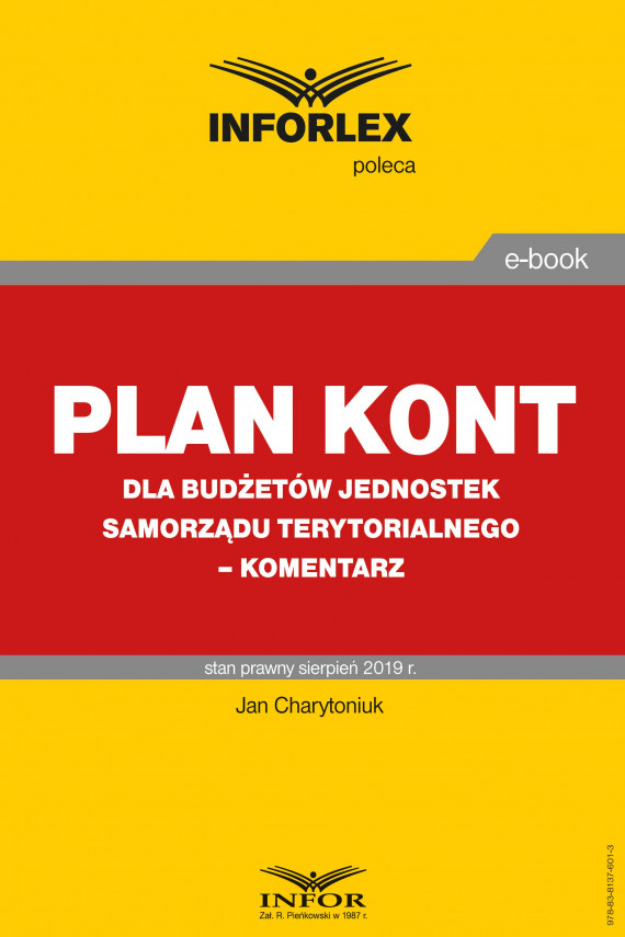 okładka Plan kont dla budżetów jednostek samorządu terytorialnego – komentarzebook | PDF | Jan Charytoniuk