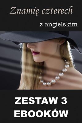 okładka 3 ebooki: Znamię czterech z angielskim, Ebook | Marta Owczarek, Arthur Conan Doyle