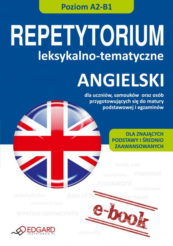 okładka Angielski - Repetytorium leksykalno-tematyczne A2-B1ebook | EPUB, MOBI | autor zbiorowy