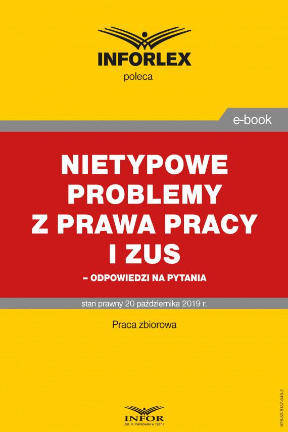 okładka Nietypowe problemy z prawa pracy i ZUS – odpowiedzi na pytaniaebook | PDF | Praca Zbiorowa
