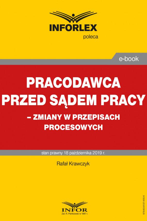 okładka Pracodawca przed sądem pracy – zmiany w przepisach procesowychebook | PDF | Rafał  Krawczyk