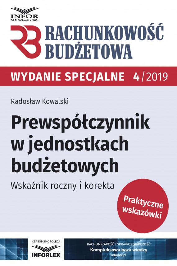 okładka Prewspółczynnik w jednostkach budżetowych.Wskaźnik roczny i korektaebook | PDF | Radosław Kowalski