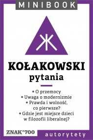 okładka Kołakowski [pytania]. Minibook. Ebook | EPUB,MOBI | Leszek Kołakowski