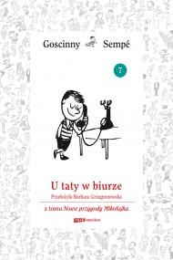okładka U taty w biurze  z tomu Nowe przygody Mikołajka.  Minibook, Ebook | René Goscinny, Jean-Jacques Sempé