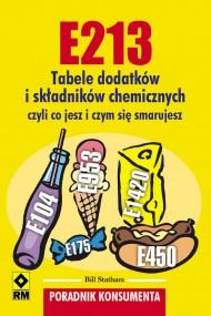 okładka E213. Tabele dodatków iskładników chemicznych. Ebook | EPUB,MOBI | Bill Statham