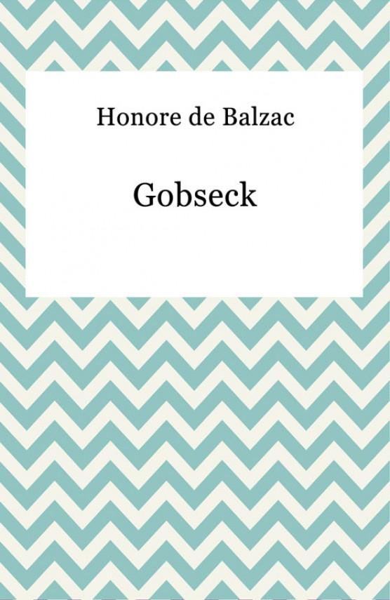 okładka Gobseck. Ebook | EPUB, MOBI | Honore De Balzac