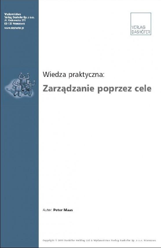 okładka Zarządzanie poprzez cele. Ebook | PDF | Peter Maas