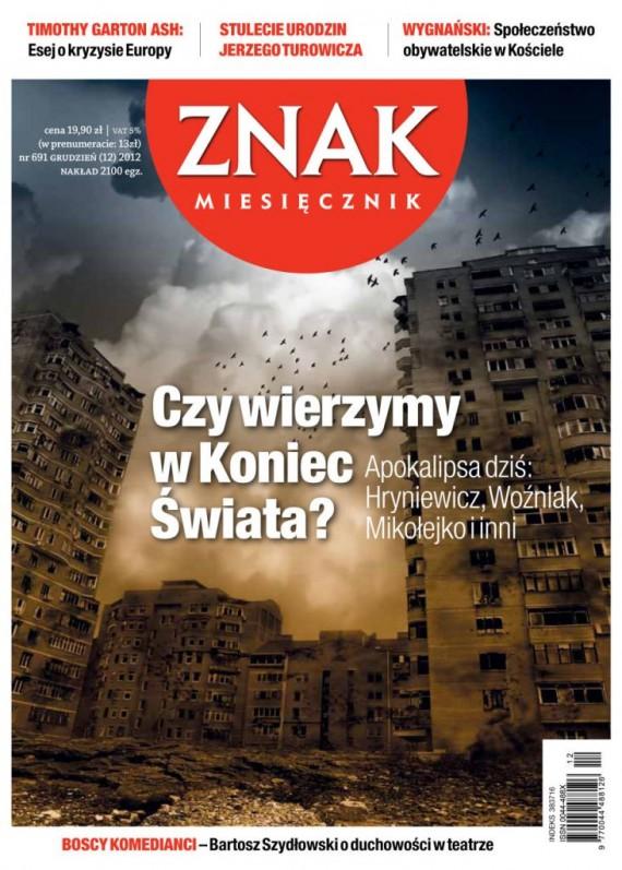 okładka Miesięcznik Znak - grudzień 2012ebook | EPUB, MOBI | autor zbiorowy