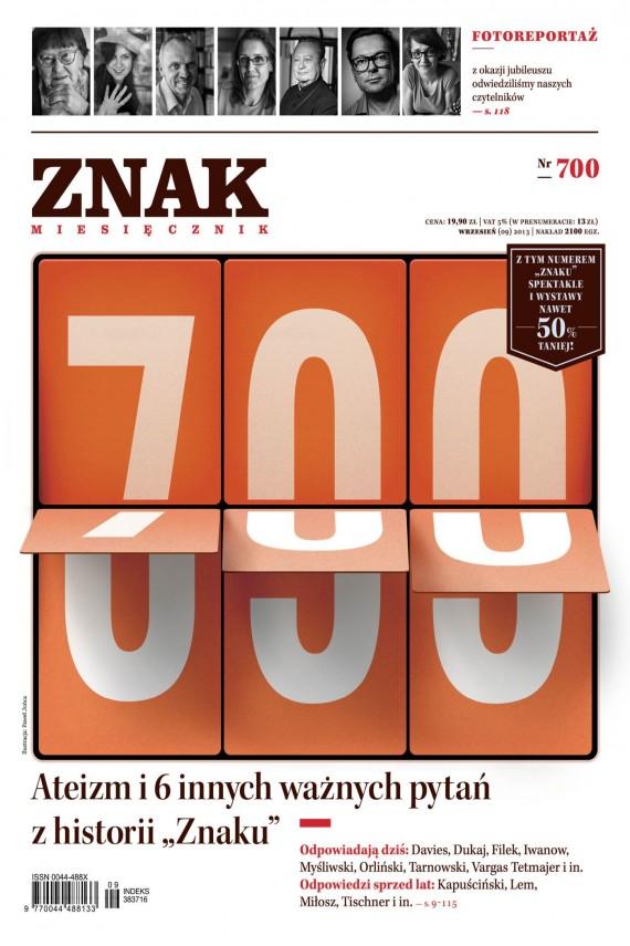 okładka ZNAK Miesięcznik nr 700 (9/2013)ebook | EPUB, MOBI | autor zbiorowy