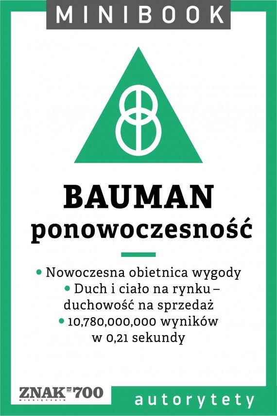 okładka Bauman [ponowoczesność]. Minibook. Ebook | EPUB, MOBI | autor zbiorowy