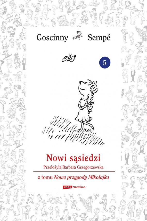 okładka Nowi sąsiedzi z tomu Nowe przygody Mikołajka.  Minibookebook | EPUB, MOBI | René Goscinny, Jean-Jacques Sempé