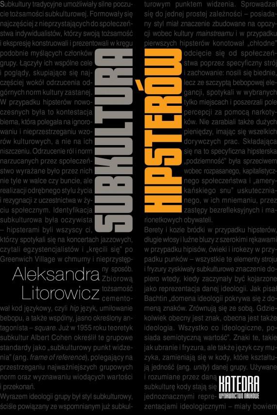 okładka Subkultura hipsterówebook | EPUB, MOBI | Aleksandra Litorowicz