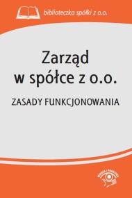 okładka Zarząd w spółce z o.o.. Ebook | EPUB,MOBI | Praca zbiorowa
